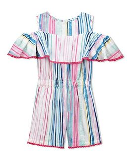 Budding Bees Striped Jumpsuit - Multicolor