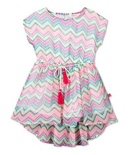 Budding Bees Zig Zag Fit & Flare Dress - Pink
