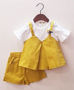 Aww Hunnie Top & Shorts Set - Yellow
