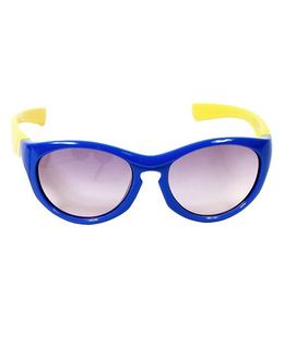 Miss Diva Dual Colour Sunglasses - Royal Blue & Yellow