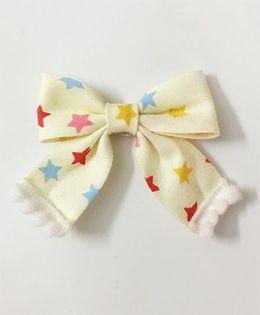 Knotty Ribbons Star Sailor Bow Alligator Clip - Off White