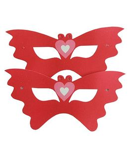 Shopaparty Hearts Masks - Multicolor