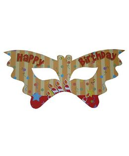 Shopaparty Happy Birthday Candles Masks - Multicolor