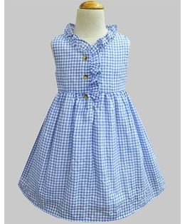 A.T.U.N Carolina Gingham Checks Dress - Blue