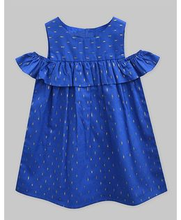 A.T.U.N Aurelian Dobby Lucy Dress - Royal Blue