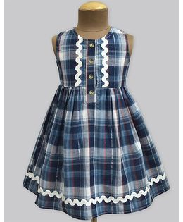 A.T.U.N Night Sky Fusion Tartan Penelope Dress - Blue