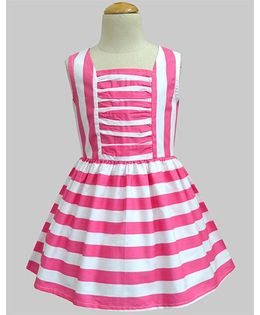 A.T.U.N Poppy Stripe Matilda Dress - Pink