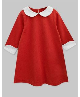 A.T.U.N Peter Pan Collar Charlotte Dress - Red