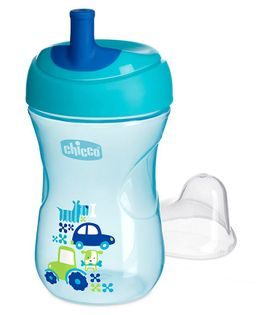 Chicco Advanced Cup With Bite Resistant Spout - 200 ml (Color & Print May Vary)