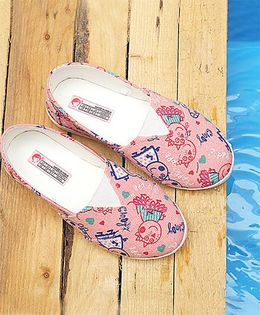 Peppa Pig By D'chica Printed Loafers - Pink