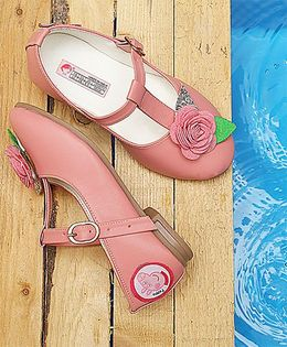 Peppa Pig By D'chica Small Flower Mary Janes - Pink