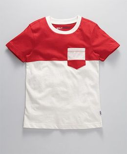 Holy Brats Contrast Cotton Tee - Red & White