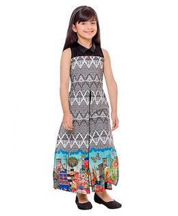 Tiny Baby Long Printed Tunic & Leggings Set - Black