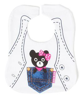 Little Hip Boutique Teddy Tubby Bib - White