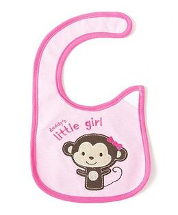 Little Hip Boutique Daddy'S Girl Appilique Bib - Pink