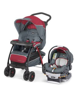Chicco Cortina Travel System Lava - Maroon & Grey