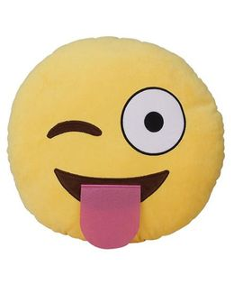 The Crazy Me Naughty Emoticon Cushion - Yellow