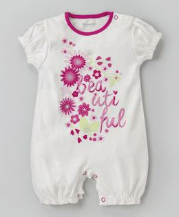 Wonderchild Floral Printed Romper - White