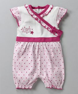 Wonderchild Cute Star Print Romper - Pink