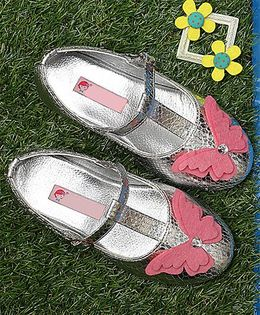 D'Chica High Fashion T-Strap Mary Janes - Silver