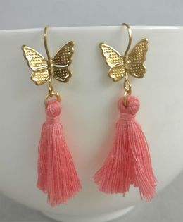 Tiny Closet Pair of Butterfly Earrings - Pink