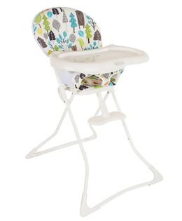 Graco High Chair With Footrest Tree Print - White