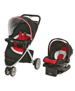 Graco Pace Spice Click Connect Travel System - Red Black