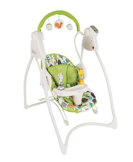 Graco Bounce Bear Trail Swing - Green & White