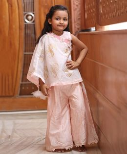 Varsha Showering Trends Top & Palazzo Ethnic Set - Light Pink