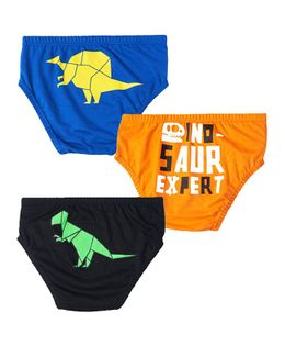 Plan B Extinct Set Of Three Boy Underwear - Black, Royal Blue, Orange