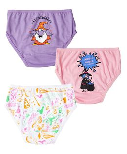 Plan B Spellbound Set Of Three Girl Underwear - Baby Pink, Lavender, White