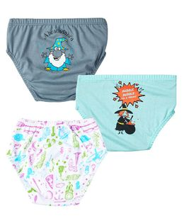 Plan B Spellbound Set Of Three Boy Underwear - Aruba Blue, Steel Grey, White