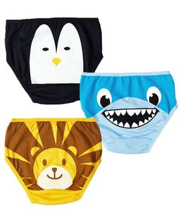 Plan B The Junglees Return Set of Three Girl Underwear - Gold, Blue, Black