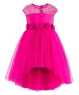 Toy Balloon Sequin High Low Party Dress - Pink