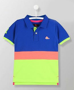 Cherry Crumble California Fairmont Polo Tee - Blue & Green