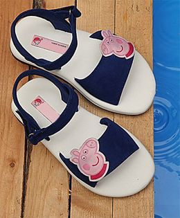 D'chica Peppa Pig Applique Sandals - Blue