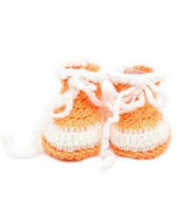 Magic Needles Handmade Crochet Turkish Yarn Mink Booties - Peach
