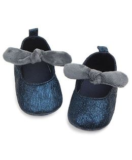 Dazzling Dolls Glittery Booties With Knot - Dark Blue