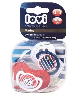 Lovi Marine Dynamic Marine Soother Pack of 2 - Red & Blue