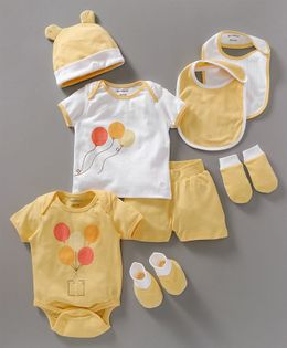My Milestones Infant Essentials Gift SetYellow - 8 Pieces