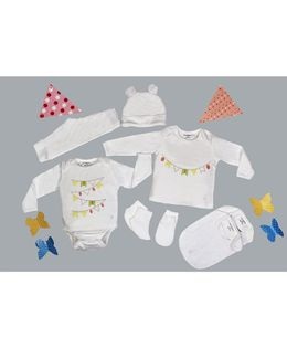 My Milestones Infant Essentials Gift Set White - 8 Pieces