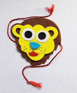 Sugarcart Big Lion Rakhi - Yellow