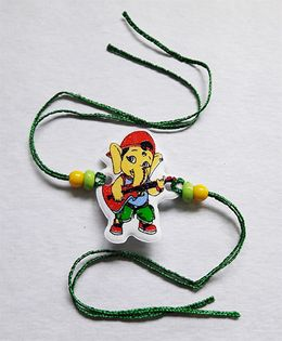 Sugarcart Ganesha With Guitar Rakhi - Multicolor