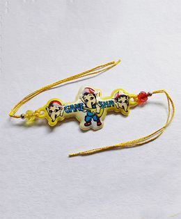 Sugarcart Ganesha Rakhi - Yellow
