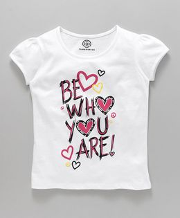 Tambourine Be Who You Are Printed Tee - White