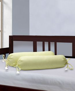 The Baby Atelier Bolster Cover Without Fillers - Lemon