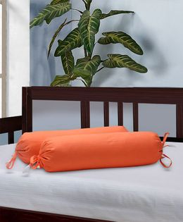 The Baby Atelier Bolster Cover Without Fillers - Orange