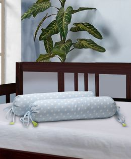 The Baby Atelier Bolster Cover Without Fillers Dot & Stripe - Blue & White