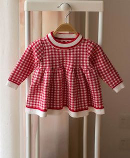 Pre Order - Awabox Checked Flare Sweater - Red