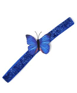 Flaunt Chic Butterfly Headband - Blue